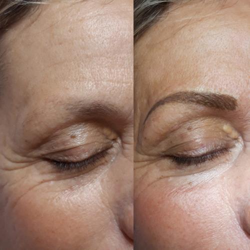 avant aprés maquillage permanent